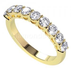 """טבעת""""מיכל"""" בזהב צהוב ויהלומים"""