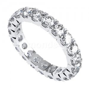 """טבעת""""קורנל"""" בזהב לבן ויהלומים"""