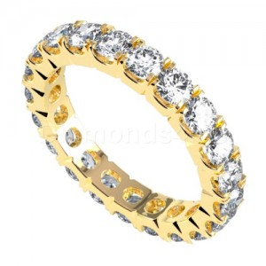 """טבעת""""קורנל"""" בזהב צהוב ויהלומים"""