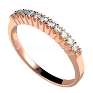 """טבעת""""דרלין"""" בזהב אדום ויהלומים"""