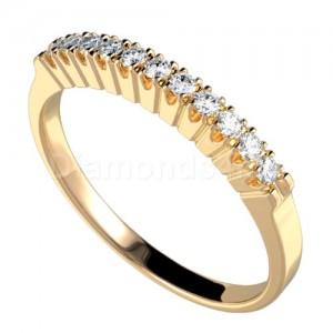 """טבעת""""דרלין"""" בזהב צהוב ויהלומים"""