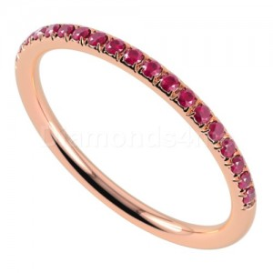"""טבעת""""רומנטיק"""" בזהב אדום ורובי"""
