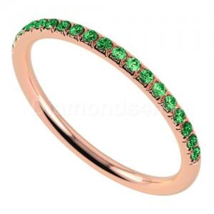 """טבעת""""רומנטיק"""" בזהב אדום וצבורייט"""