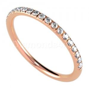 """טבעת""""רומנטיק"""" בזהב אדום ויהלומים"""