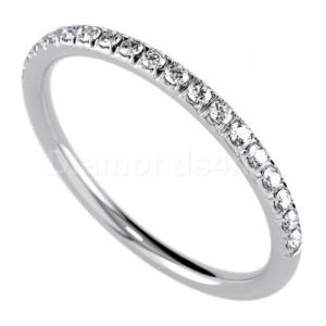 """טבעת""""רומנטיק"""" בזהב לבן ויהלומים"""