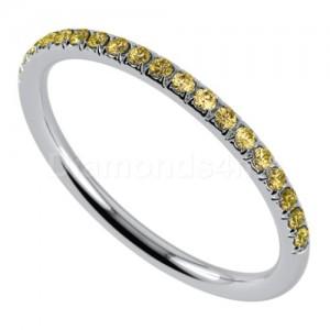 """טבעת""""רומנטיק"""" בזהב לבן וספיר צהוב"""