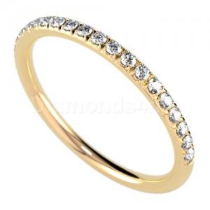 """טבעת""""רומנטיק"""" בזהב צהוב ויהלומים"""