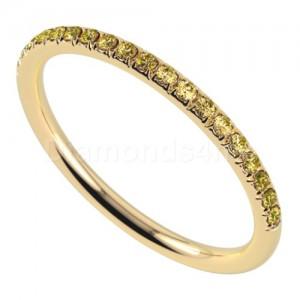 """טבעת""""רומנטיק"""" בזהב צהוב וספיר צהוב"""