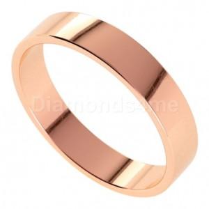 טבעת נישואים איידן בזהב אדום