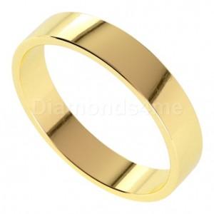 טבעת נישואים איידן בזהב צהוב