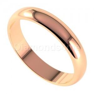 טבעת נישואים ארנט בזהב אדום