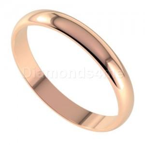 טבעת נישואים בניטו בזהב אדום