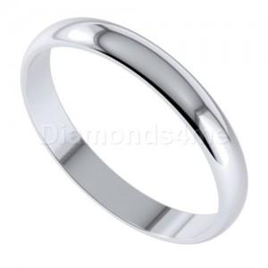 טבעת נישואים בניטו בזהב לבן