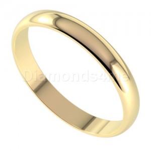 טבעת נישואים בניטו בזהב צהוב