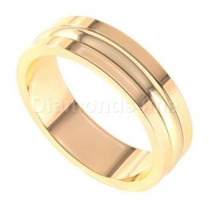 טבעת נישואים אסקו זהב אדום