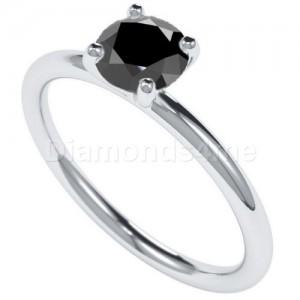 טבעת מרטיני בלנקה יהלום שחור