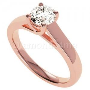 טבעת אירוסין אלדונה בזהב אדום