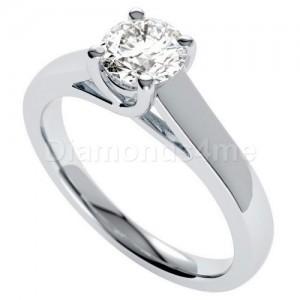 טבעת אירוסין אלדונה בזהב לבן