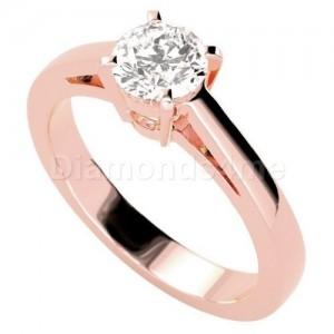טבעת אירוסין אמנדה בזהב אדום