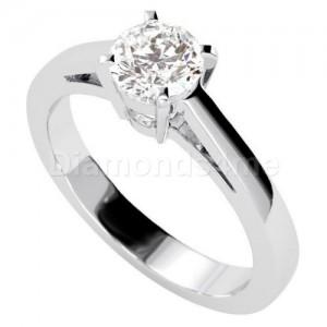טבעת אירוסין אמנדה בזהב לבן