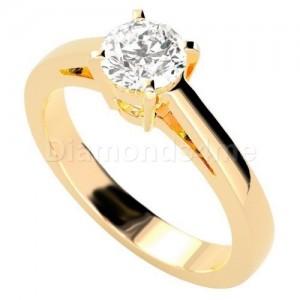 טבעת אירוסין אמנדה זהב צהוב