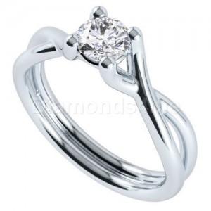 טבעת אירוסין ארמנדה זהב לבן