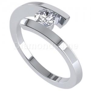 טבעת אירוסין בליסיה בזהב לבן