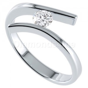 טבעת  אירוסין בלנקה זהב לבן