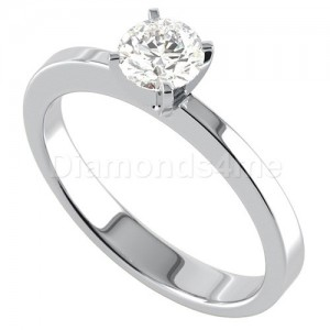 טבעת אירוסין קארי בזהב לבן