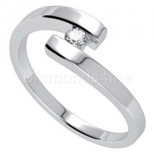 טבעת  אירוסין כרמן בזהב לבן