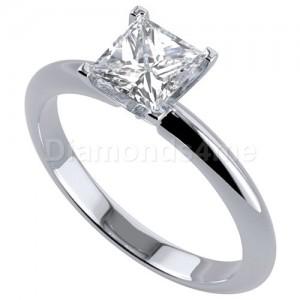 טבעת אירוסין אלה בזהב לבן
