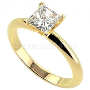 טבעת אירוסין אלה בזהב צהוב