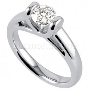 טבעת  אירוסין אליסה בזהב לבן