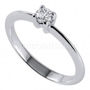 טבעת  אירוסין אמה בזהב לבן