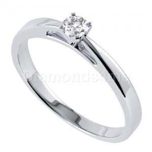 טבעת  אירוסין אנריקה בזהב לבן
