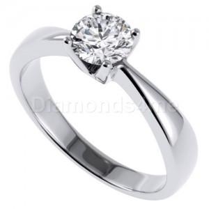 טבעת פרנסיסקה בזהב לבן
