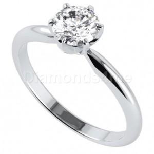 טבעת  אירוסין קלסיקס בזהב לבן