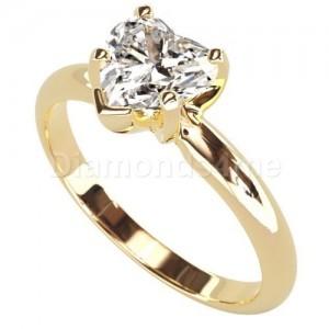 טבעת  אירוסין לבידה בזהב צהוב