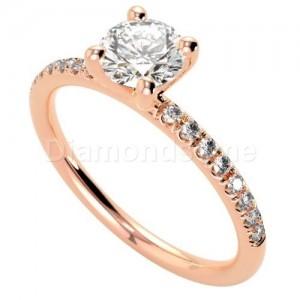 טבעת אירוסין מרטיני זהב אדום