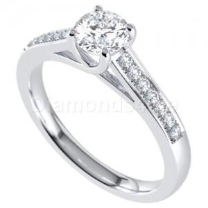 טבעת אירוסין אדריאן בזהב לבן
