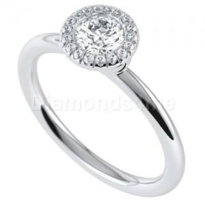 טבעת אירוסין קמיליה בזהב לבן