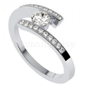 טבעת אירוסין שרין בזהב לבן