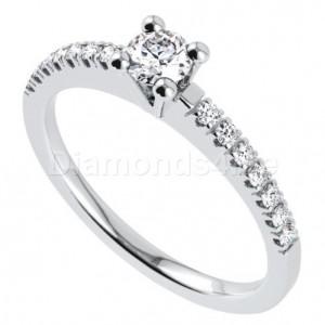 טבעת אירוסין אורלין בזהב לבן