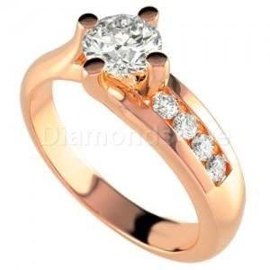 """טבעת אירוסין """"פיארה"""" בזהב אדום"""
