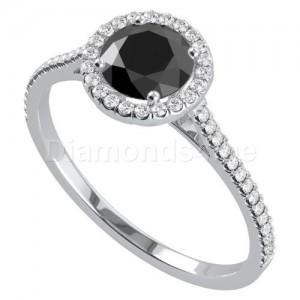"""טבעת """"יולנדה"""" זהב לבן ויהלומים"""