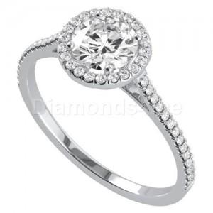 """טבעת אירוסין """"יולנדה"""" בזהב לבן"""