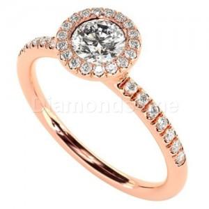 """טבעת אירוסין דגם """"איוונה"""" בזהב אדום"""