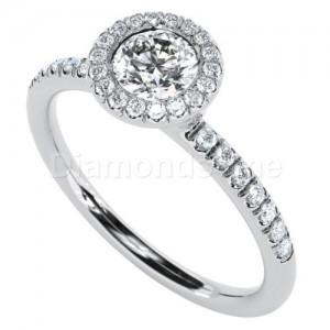 """טבעת אירוסין דגם """"איוונה"""" בזהב לבן"""