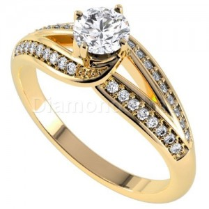 טבעת אירוסין קורניליה בזהב צהוב