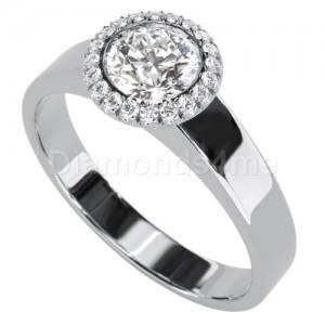 טבעת אירוסין אנג'ליקה בזהב לבן